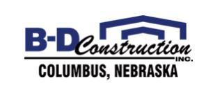 B-D Construction logo